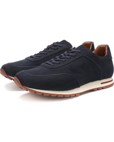 Кроссовки замшевые на шнуровке Loro Piana