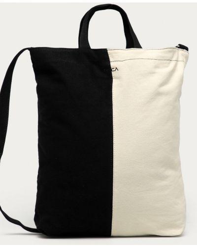 Czarna torba z krótkimi uchwytami bawełniana Rvca