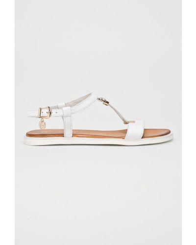Белые сандалии кожаный Carinii