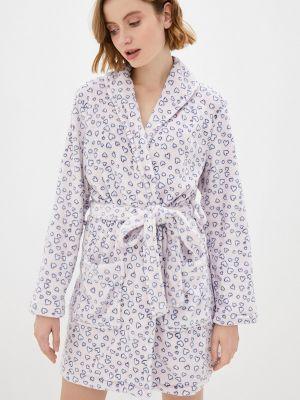 Фиолетовый флисовый домашний халат Nymos