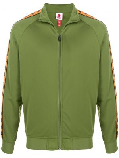 Спортивная куртка зеленая на молнии Kappa