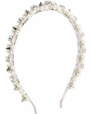 Opaska na głowę srebro z perłami Simone Rocha