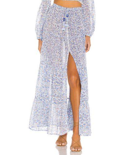 Niebieski bezpłatne cięcie światło włókienniczy spódnica maxi Poupette St Barth