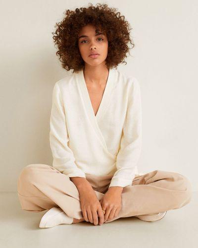 Блузка с V-образным вырезом с запахом Mango