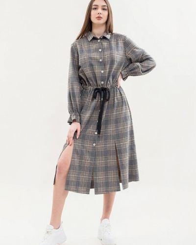 Серое платье-рубашка Maxa