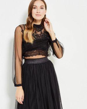 Блузка с длинным рукавом черная Danity