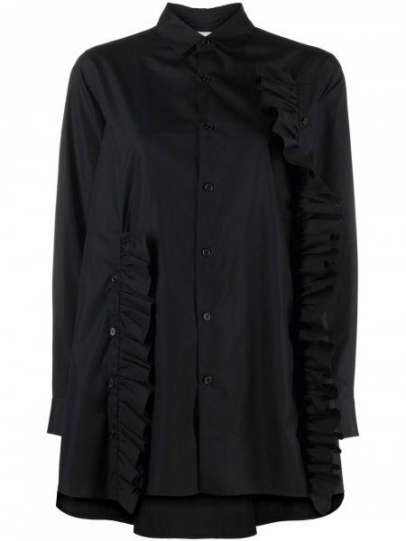 Хлопковая черная классическая рубашка с длинными рукавами Comme Des Garçons Noir Kei Ninomiya