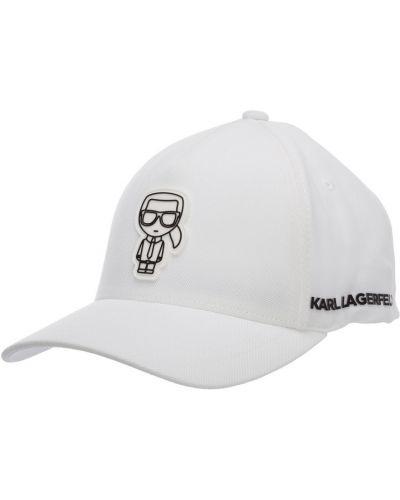 Biały kapelusz Karl Lagerfeld