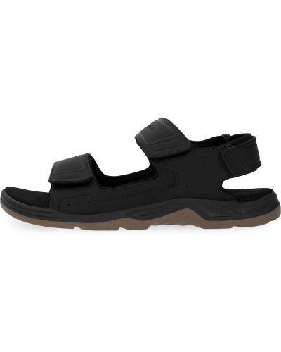 Теплые черные кожаные сандалии Outventure
