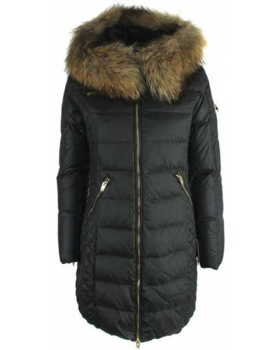 Czarny płaszcz casual Rockandblue