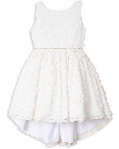 Свободное белое платье макси без рукавов Badgley Mischka
