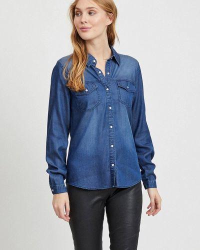 Синяя джинсовая рубашка Vila