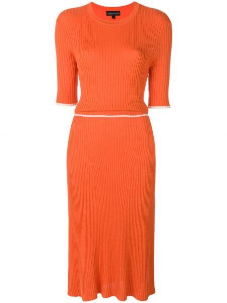 Шелковое платье миди - оранжевое Cashmere In Love
