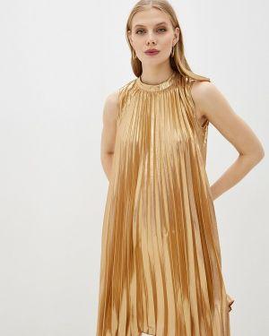 Вечернее платье осеннее золотой Love Republic