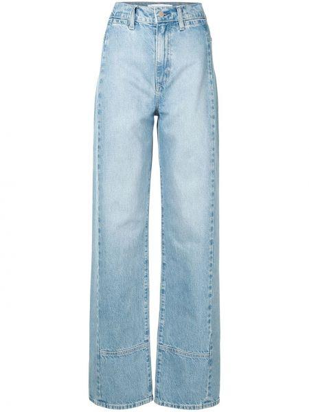 С завышенной талией хлопковые синие прямые джинсы с поясом Nobody Denim