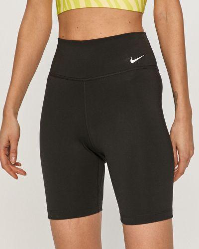 Czarne spodenki sportowe materiałowe Nike