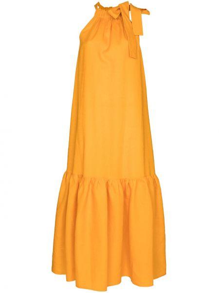 Оранжевое платье без рукавов Asceno