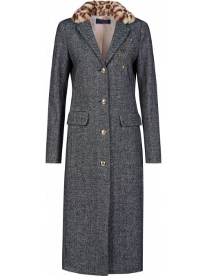 Шерстяное пальто - серое Trussardi Jeans