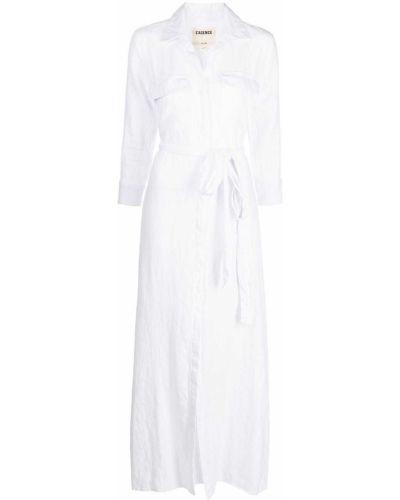 Белое платье макси с завязками с воротником L'agence