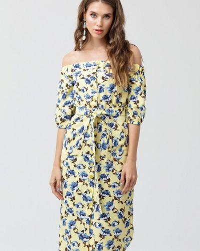 Желтое платье миди Oks By Oksana Demchenko