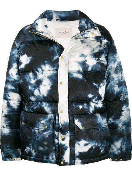 Niebieska kurtka z printem Buscemi