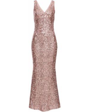 Вечернее платье розовое с пайетками Bonprix