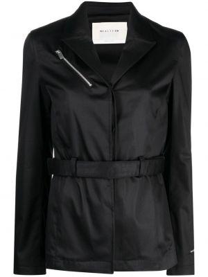 Однобортный черный удлиненный пиджак с поясом 1017 Alyx 9sm