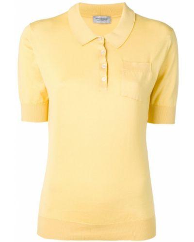 Желтая классическая рубашка с лебяжьим пухом John Smedley