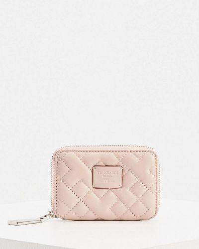 Розовый кожаный кошелек Trussardi