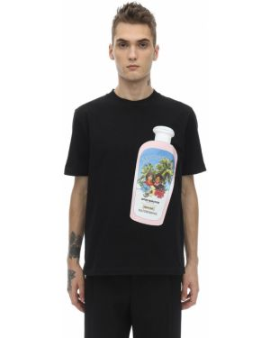 Czarny t-shirt bawełniany Botter