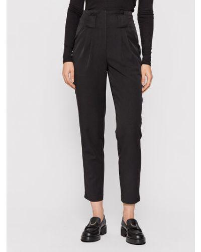 Czarne spodnie materiałowe Y.a.s