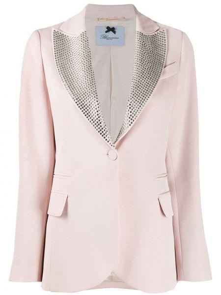 Розовый пиджак на пуговицах Blumarine