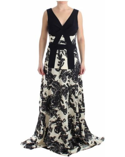 Biała sukienka długa elegancka z wiskozy Cedric Charlier