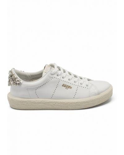 Białe sneakersy materiałowe Golden Goose