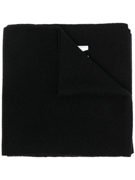 Prążkowany czarny szalik wełniany Dsquared2