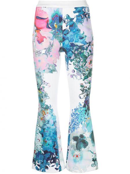 Укороченные брюки - белые Cynthia Rowley