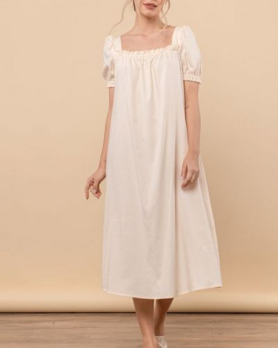 Молочное платье а-силуэта Mr520