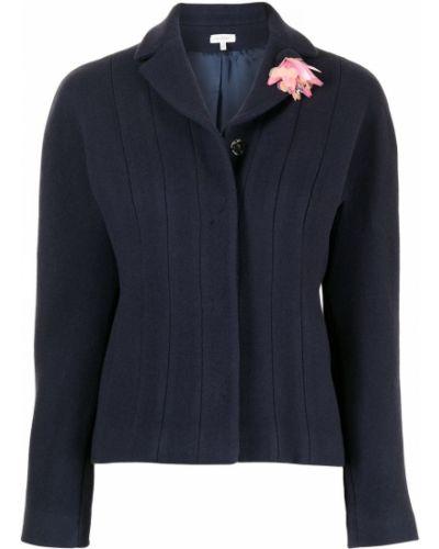Синий шерстяной пиджак Delpozo