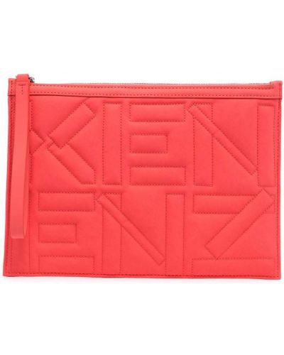 Różowa kopertówka z nylonu pikowana Kenzo