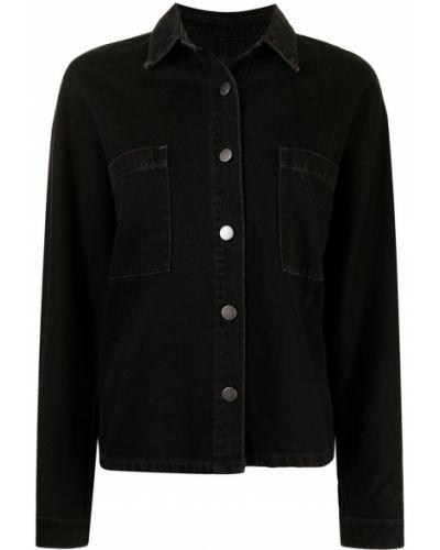 Джинсовая рубашка длинная - черная Nobody Denim