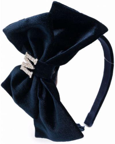 Niebieskie opaska do włosów srebrne Monnalisa
