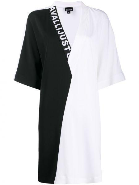 Платье с V-образным вырезом из вискозы Just Cavalli