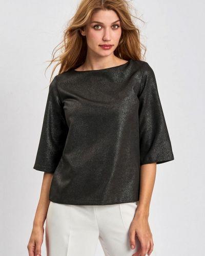 С рукавами черная блузка Lussotico