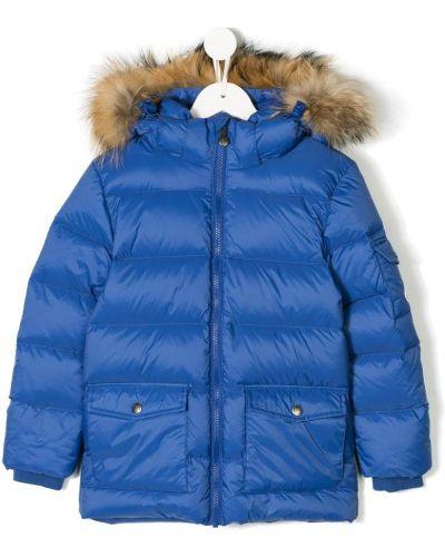 Синяя куртка из енота Pyrenex Kids