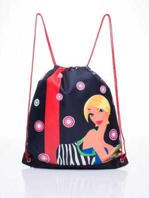 Sport plecak szkolny materiałowy z printem Fashionhunters