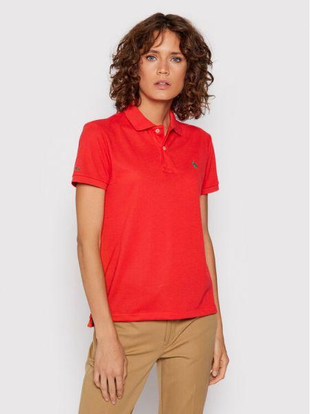 Czerwona koszulka Polo Ralph Lauren