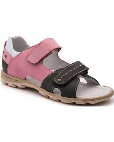Сандалии серые розовый Tapiboo