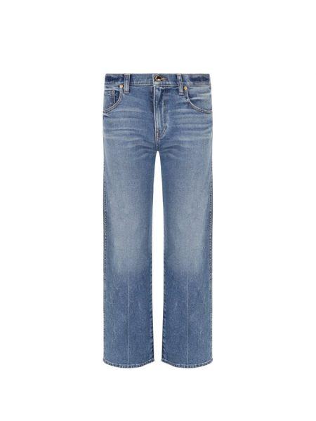 Укороченные джинсы винтажные синие Khaite