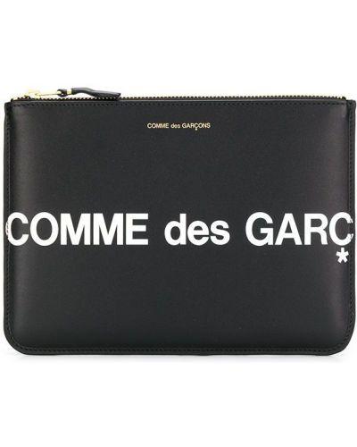 Барсетка кожаная черный Comme Des Garçons