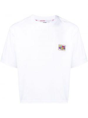 Хлопковая с рукавами белая рубашка Gcds